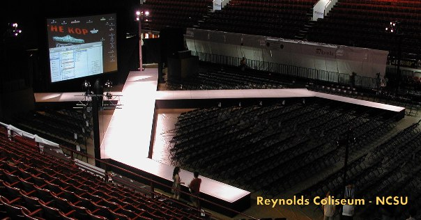 Raleigh event production special event design total for Runway stages